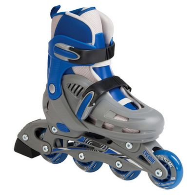 SFR Cyclone Adjustable Inline Skates Grey/Blue Size 12-2