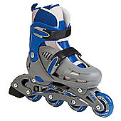 SFR Cyclone Adjustable Inline Skates Grey/Blue Size 12-2
