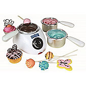 PME Electric Chocolate Candy Melting Pot with 2 Heat Settings and 3 Pots with UK Plug