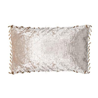 Mink Oblong Crushed Velvet Cushion 12