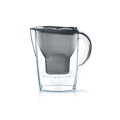 BRITA Fill & Enjoy Marella Water Filter Jug With Free Maxtra + Cartridge, 2.4 Litre (Graphite)