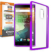 **Orzly** Fusion Case for OnePlus Two - Purple / Clear