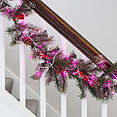 40 Pink Berry Indoor LED Fairy Lights