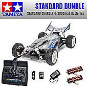 TAMIYA Dual Ridge 4WD Buggy RC Car Standard Bundle 2x Batteries 58596