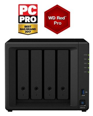 Synology DiskStation DS418/24TB-RED PRO powerful 24TB(4x6TB WD RED PRO) 4-bay NAS
