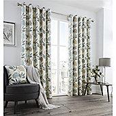 Fusion Karsten Eyelet Curtains - Teal