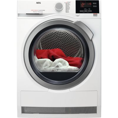 AEG T6DBG822N 8kg Load Condenser Tumble Dryer with Sensor Drying, White