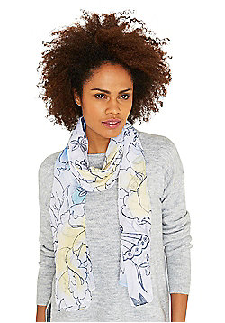 F&F Sequinned Floral Scarf - Multi