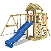 Climbing frame Wickey MultiFlyer with wooden roof