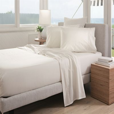 Sheridan Classic Percale 300 Thread Count Snow Fitted Sheet - Single
