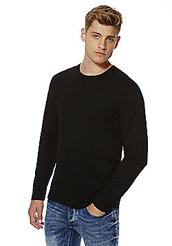 F&F Crew Neck Long Sleeve T-Shirt - Black