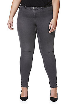 Junarose Slim Leg Plus Size Jeans - Washed grey