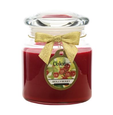 Colony Classic Candle Jar with Lid, Hollyberry