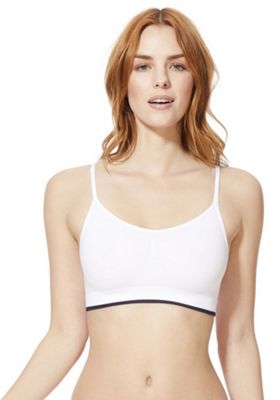 F&F Seamfree Crop Top White M