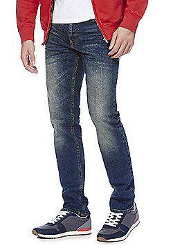 F&F Vintage Wash Stretch Slim Jeans - Vintage wash