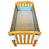 Breathe Easy Air Mesh Cot Liner 4 Sided Blue