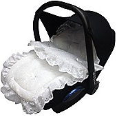 Broderie Anglaise Car Seat Footmuff Baby Silver Cross Simplicity/Ventura White