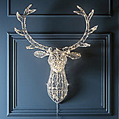 Stag Head Christmas Light with 140 Warm White LEDs