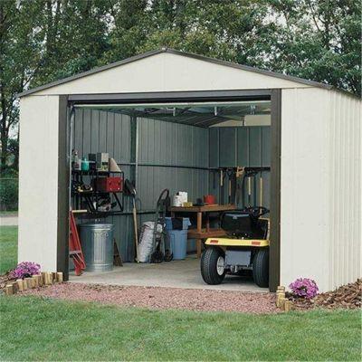 12 x 10 Murryhill Metal Garage (3.71m x 2.97m) (12ft x 10ft)