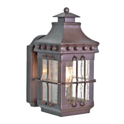 Old Bronze Wall Lantern - 1 x 100W E27