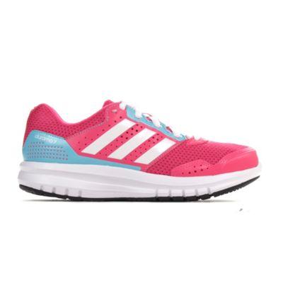 adidas Duramo 7 Girls Running Trainer Shoe Pink - UK 3