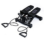Homcom Mini Stepper Gym Exercise Arm Cord Training Machine (Black)