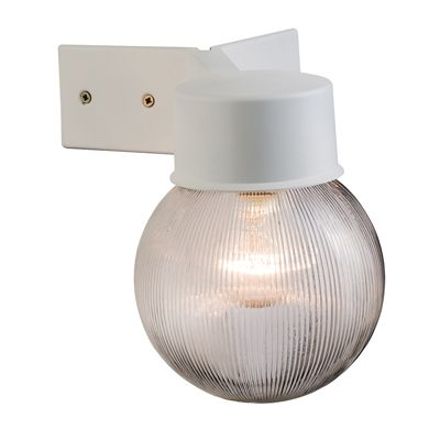 Ware Ribbed Globe 1 Light 40W Wall Light Matte White Textured