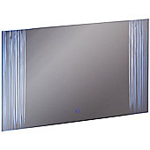Forest - Led Illuminated Rectangular Wall Mirror Light With Demister - Silver