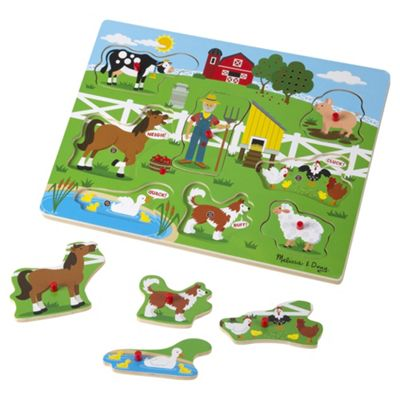 Melissa & Doug Old Mcdonalds Farm Sound Puzzle
