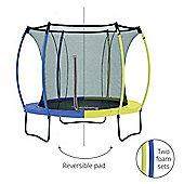 Plum 8ft Colours Springsafe Trampoline & Enclosure - Snorkel Blue & Citrus Lime