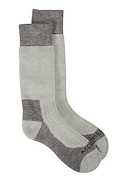Mountain Warehouse Womens Socks Merino/Nylon Fabric Blend and Smooth Toe Seam - Grey