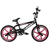 "Rooster Big Momma 20"" Skyway Pink Mag Wheel BMX Bike Black"