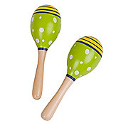 Bigjigs Toys Junior Maracas (One Pair - Green)