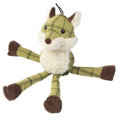 Green Long Legged Tweed Fox Dog Toy