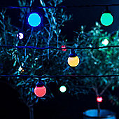 10 Multi Coloured LED Connectable Festoon Lights