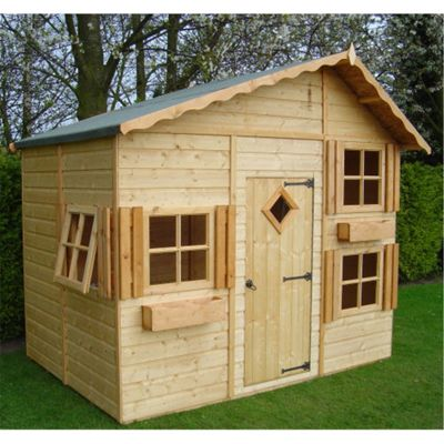 8 x 6 Wooden Playhouse 8ft x 6ft (2.44m x 1.83m)