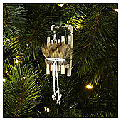 Weiste Wooden Sledge Christmas Tree Decoration