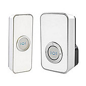 Lloytron White 32-Melody Mains Plug-In Wireless Door Chime with Mips
