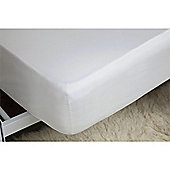 Belledorm Egyptian Cotton 200 Thread Count 12 Inch White Fitted Sheet - Small Double