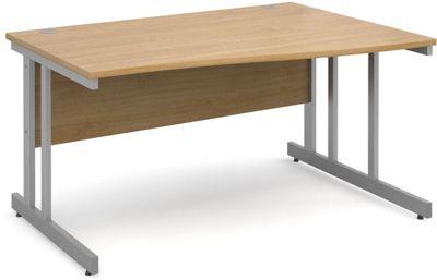 DSK Momento 1400mm Right Hand Wave Desk - Light Oak