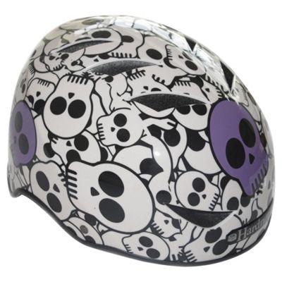 HardnutZ Purple Skulls Medium Helmet 54-58cms