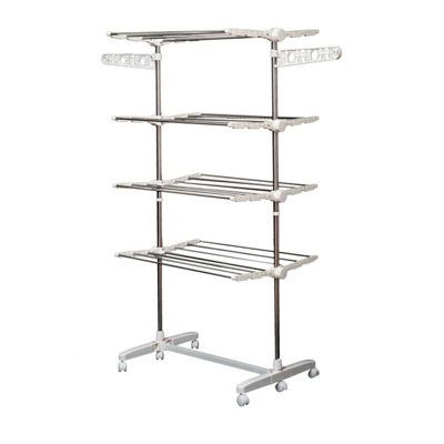 Homcom Clothes 4 Layers Folding Rail Hanger Dryer Rack