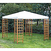 Outsunny 3 x 3 m Garden Wooden Gazebo Marquee Canopy Shelter Pavilion - Beige