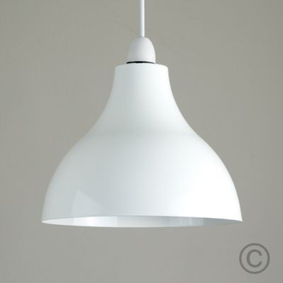Dexter Industrial Style Ceiling Pendant Light Shade, White