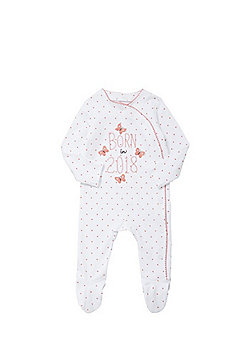F&F Born In 2018 Sleepsuit - Pink & White