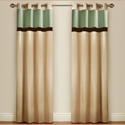Pin Tuck Lined Curtains with Eyelet Heading in Duck Egg - 116cm Width x 137cm Drop