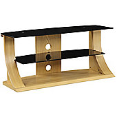Jual Curve - Curved Oak TV Stand for up to 50 inch TVs