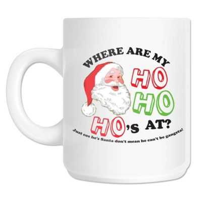 Where My Ho Ho Ho's At 10oz Ceramic Mug