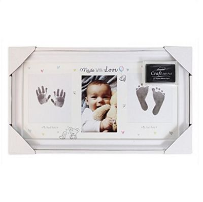 Hugs & Kisses Hand & Foot Photo Frame Baby Keepsake Gift