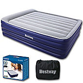 Night Right Raised Queen Airbed With Inbuilt Pillow & Pump